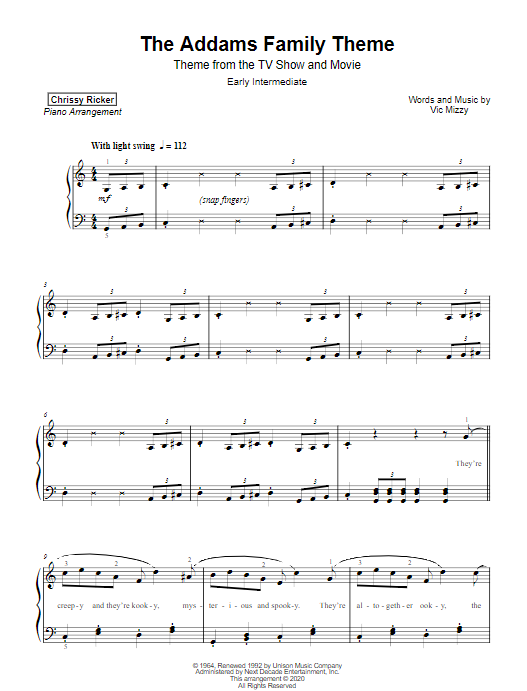 The Addams Family Theme Sample Page