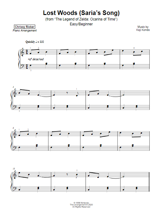 Lost Woods (Saria's Song) Sample Page