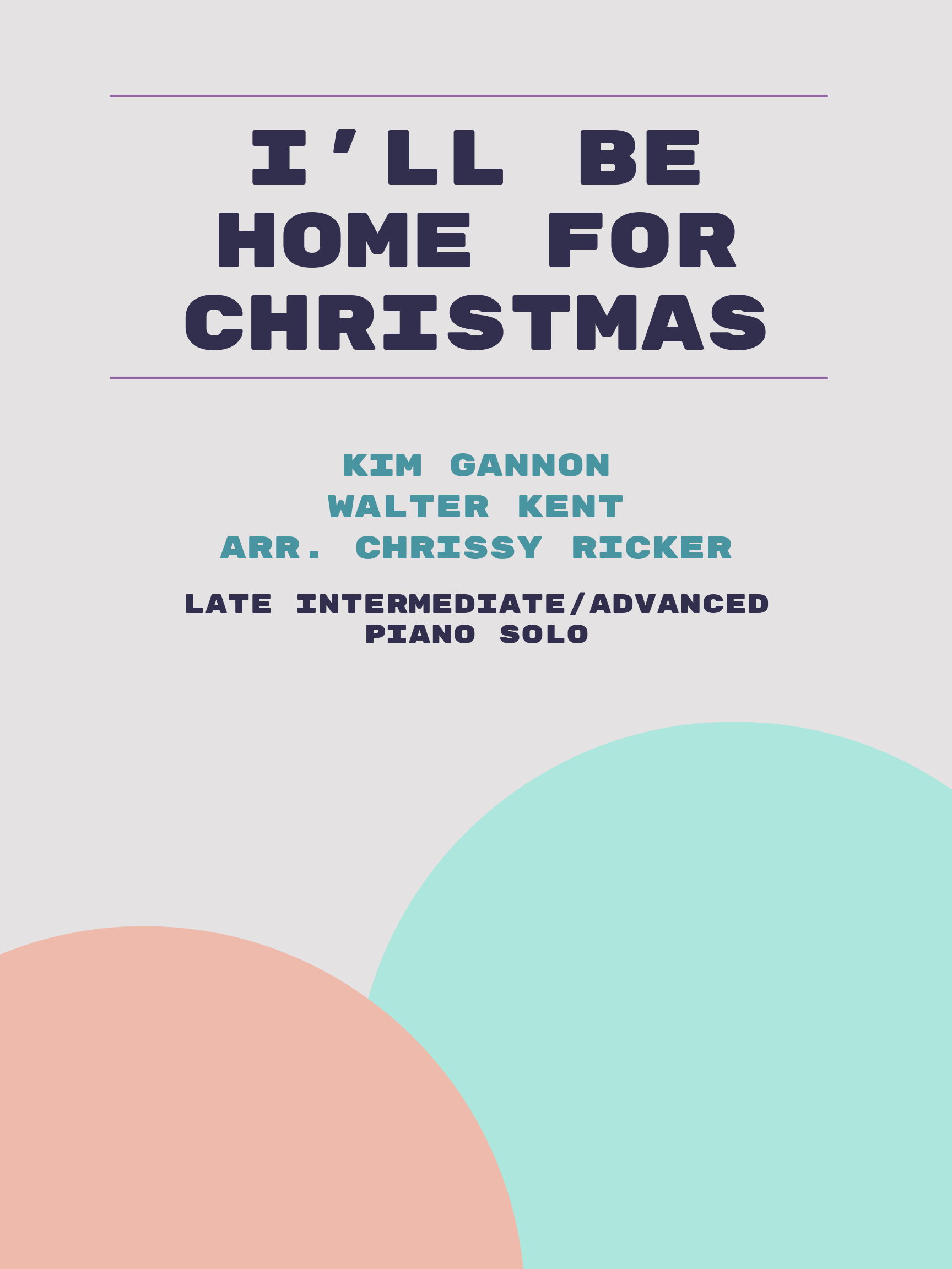 I'll Be Home for Christmas Sample Page