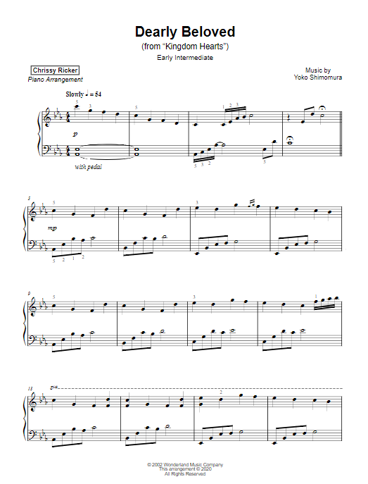 Dearly Beloved Sample Page
