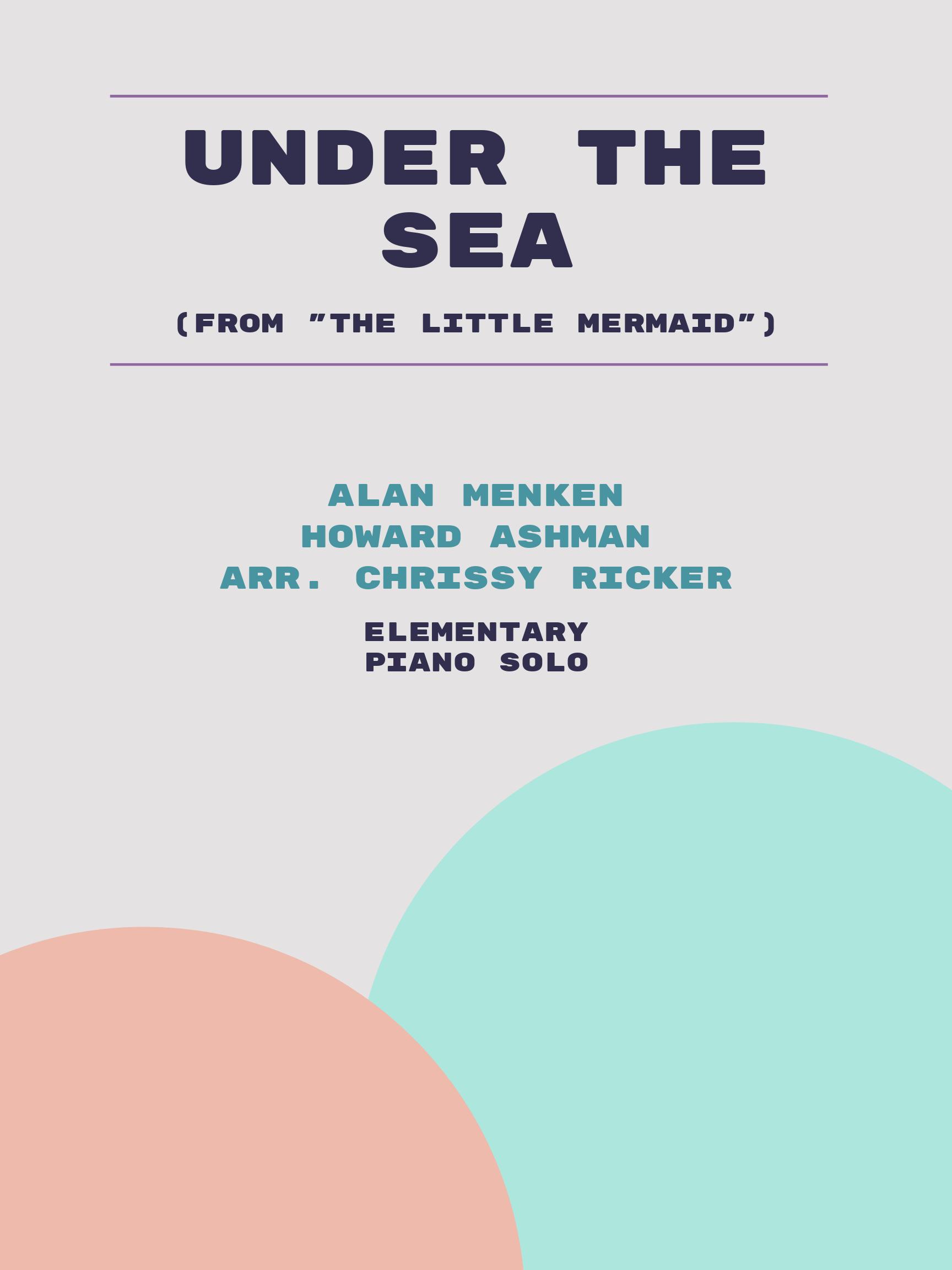 Under the Sea by Alan Menken, Howard Ashman