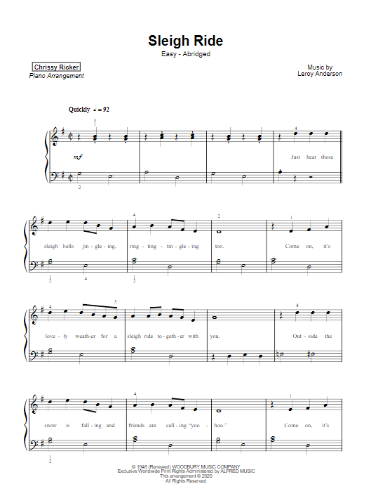 Sleigh Ride Sample Page