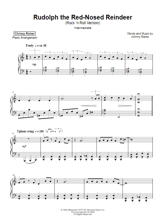 Rudolph the Red-Nosed Reindeer Sample Page