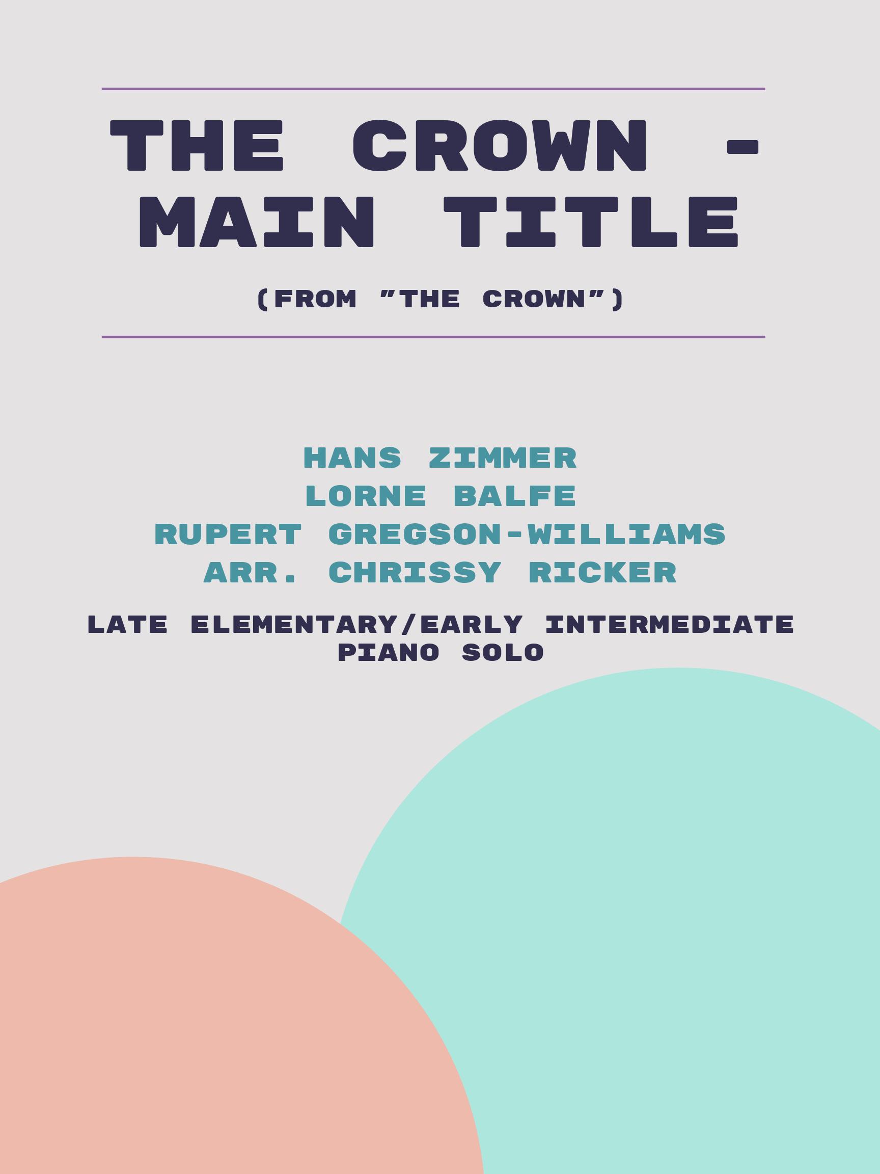 The Crown - Main Title by Hans Zimmer, Lorne Balfe, Rupert Gregson-Williams
