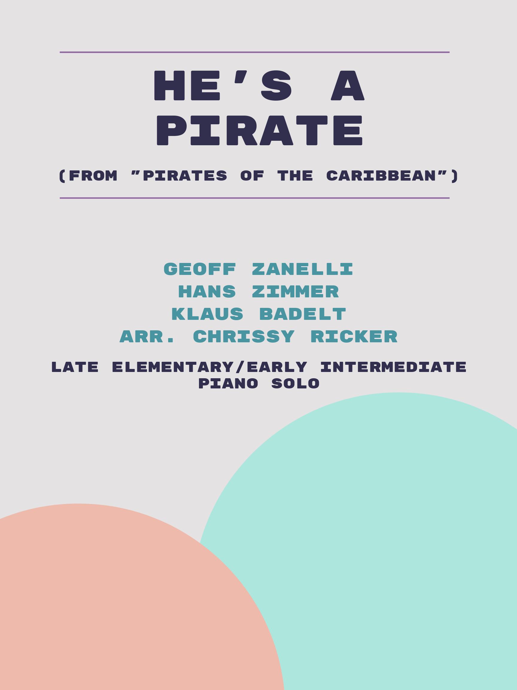 He's a Pirate by Geoff Zanelli, Hans Zimmer, Klaus Badelt
