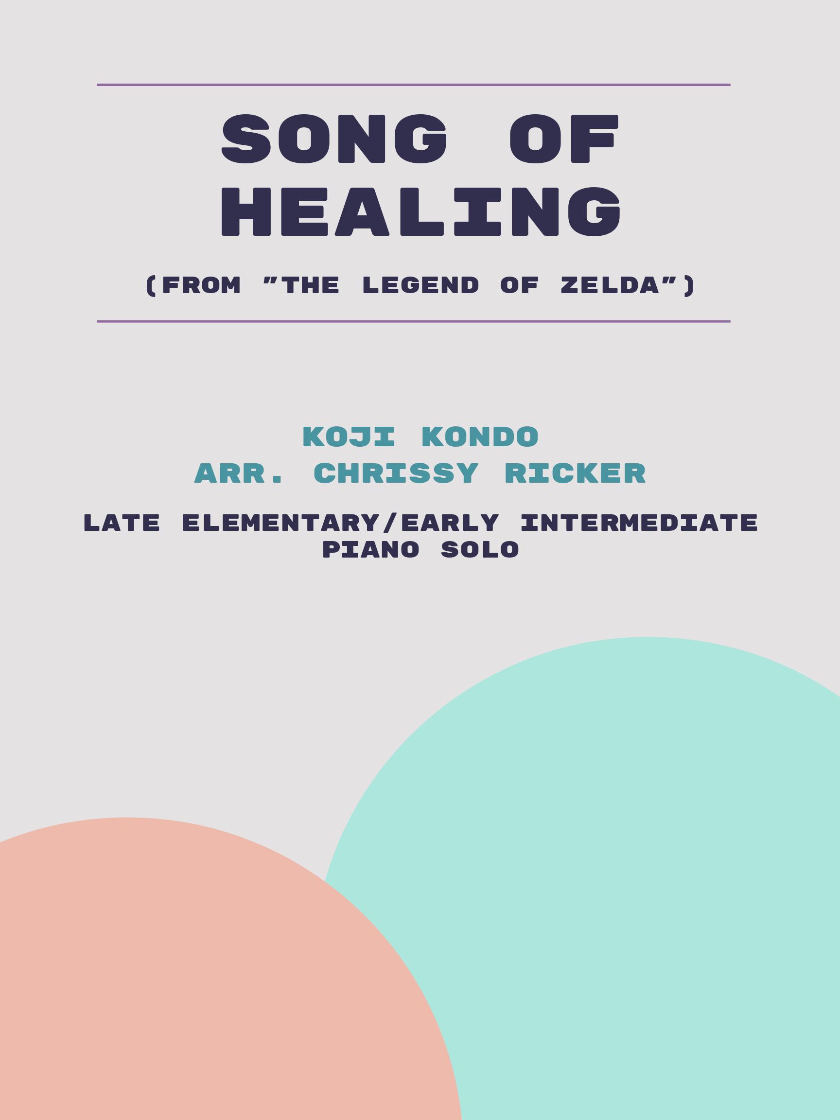 Song of Healing by Koji Kondo