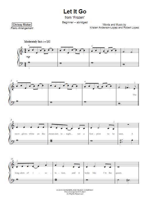 Let It Go Sample Page