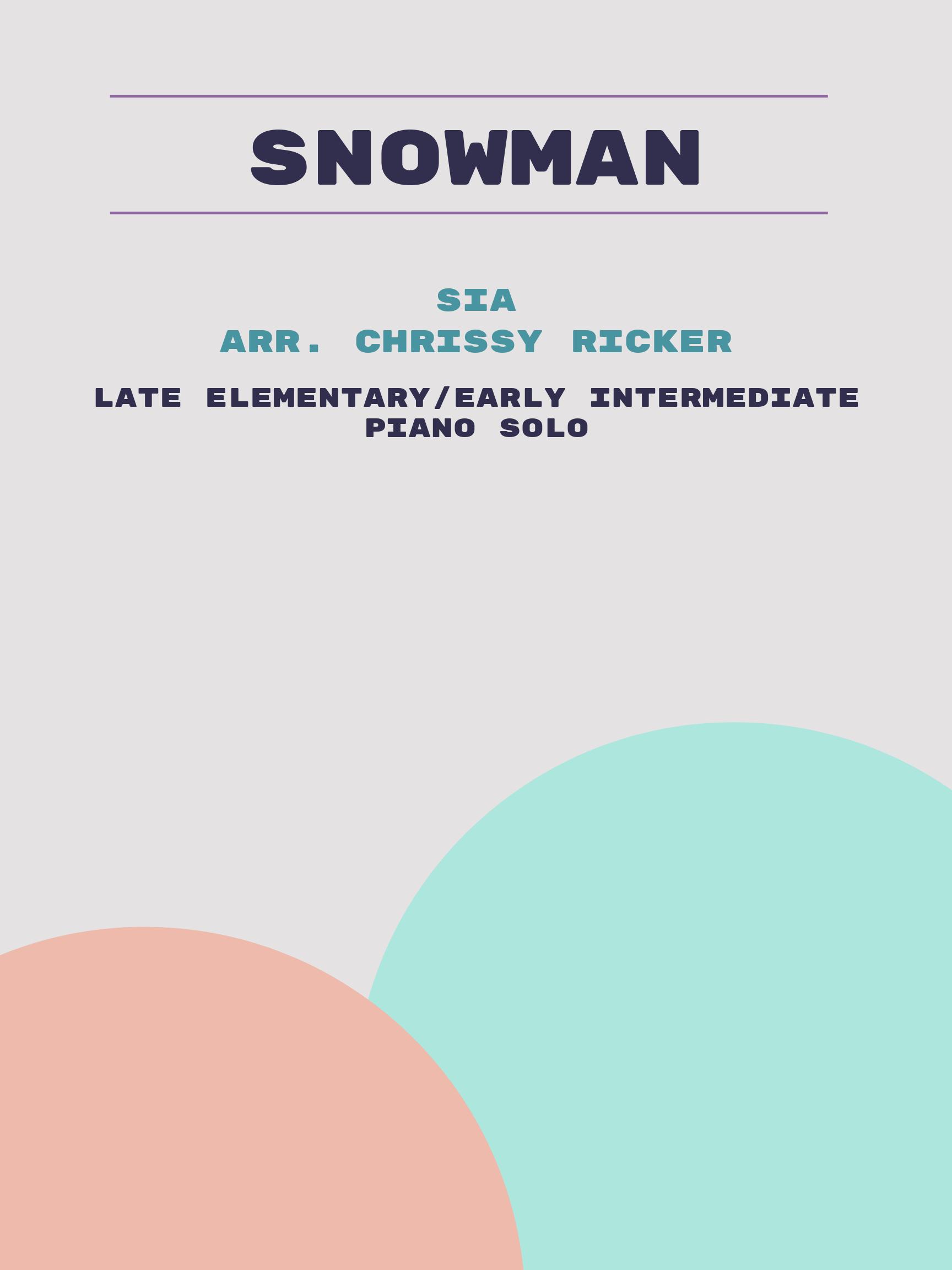 Snowman by Sia