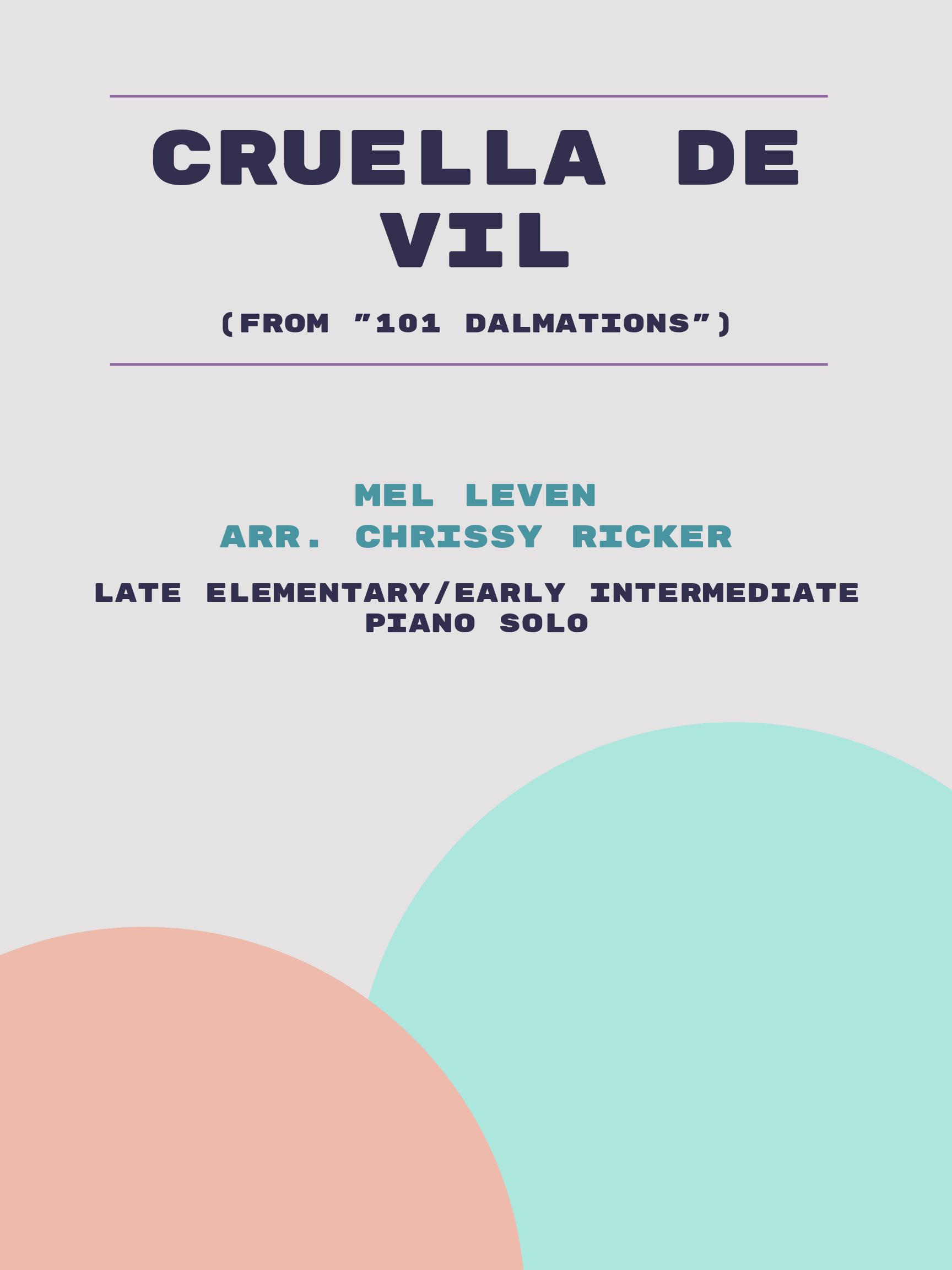 Cruella de Vil by Mel Leven
