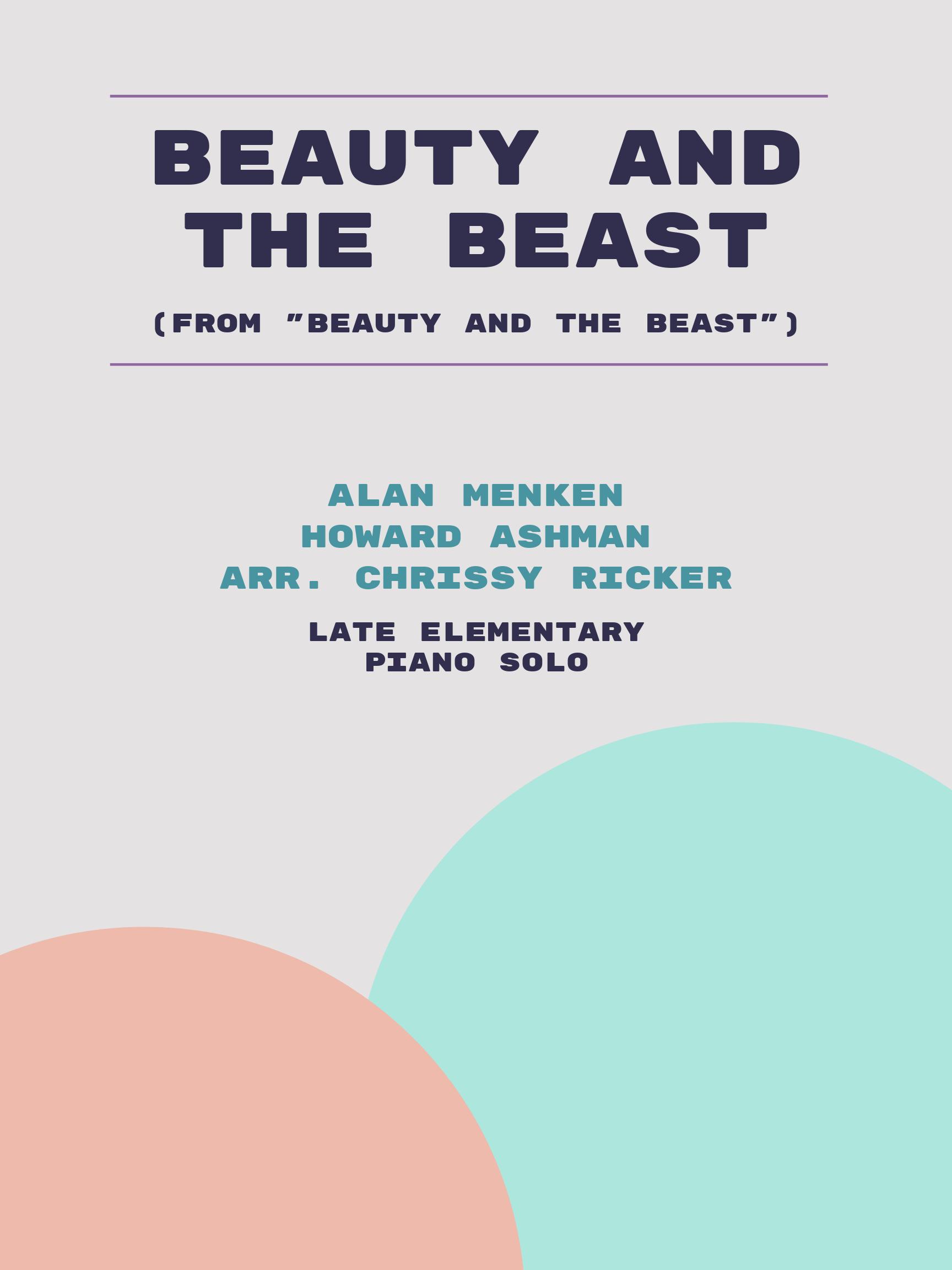 Beauty and the Beast by Alan Menken, Howard Ashman