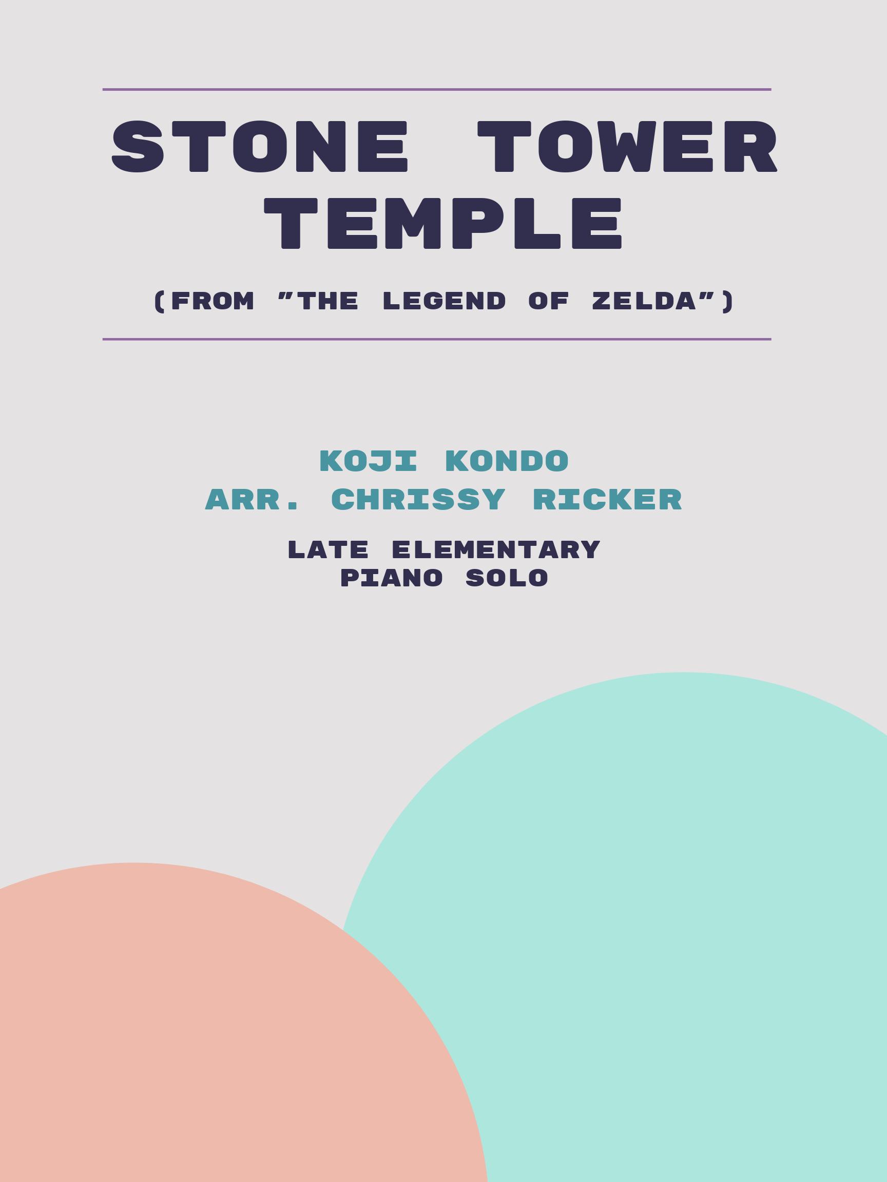 Stone Tower Temple by Koji Kondo