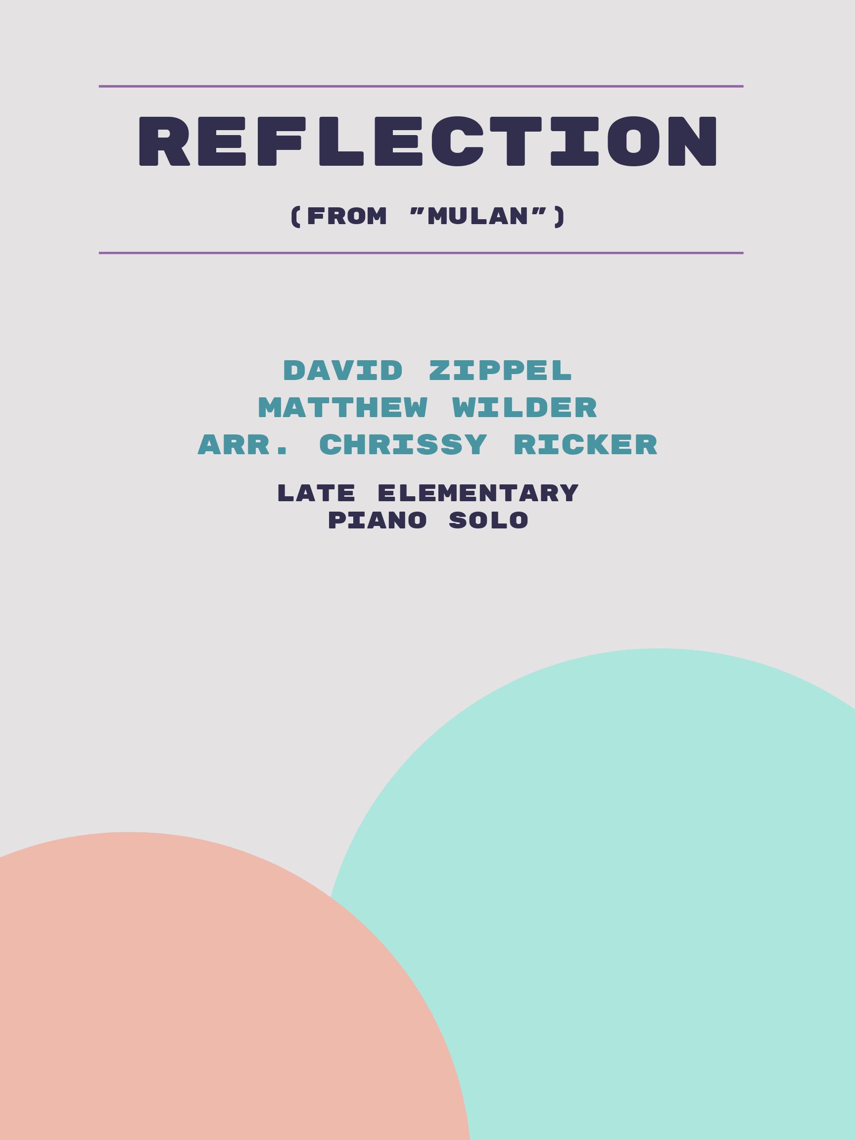 Reflection by David Zippel, Matthew Wilder