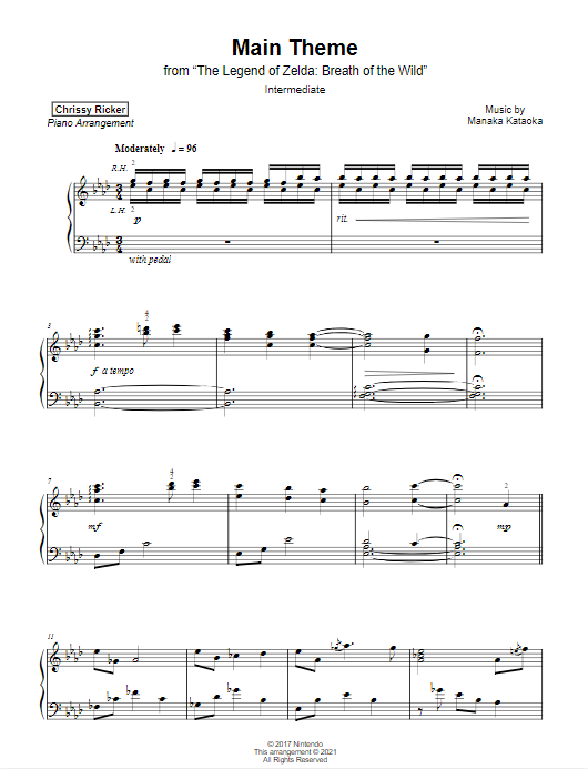 Legend of Zelda: Breath of the Wild Main Theme Sample Page