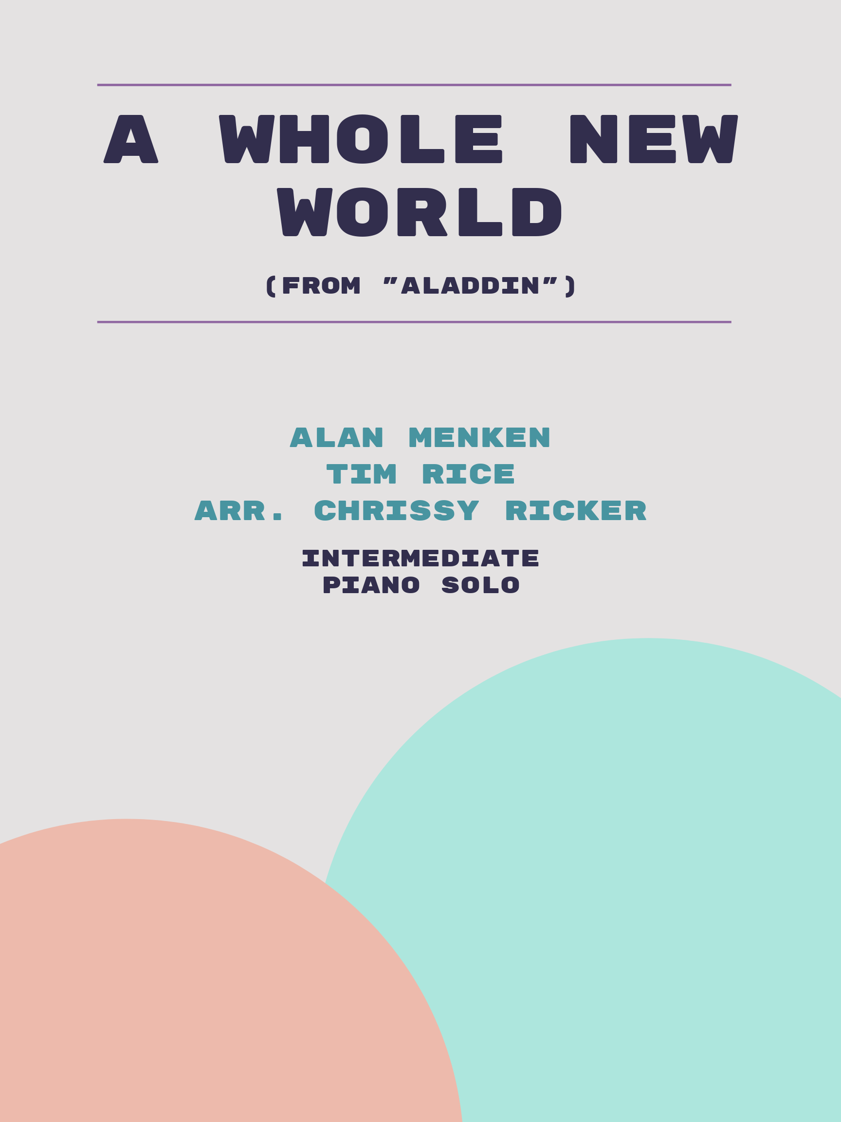 A Whole New World by Alan Menken, Tim Rice