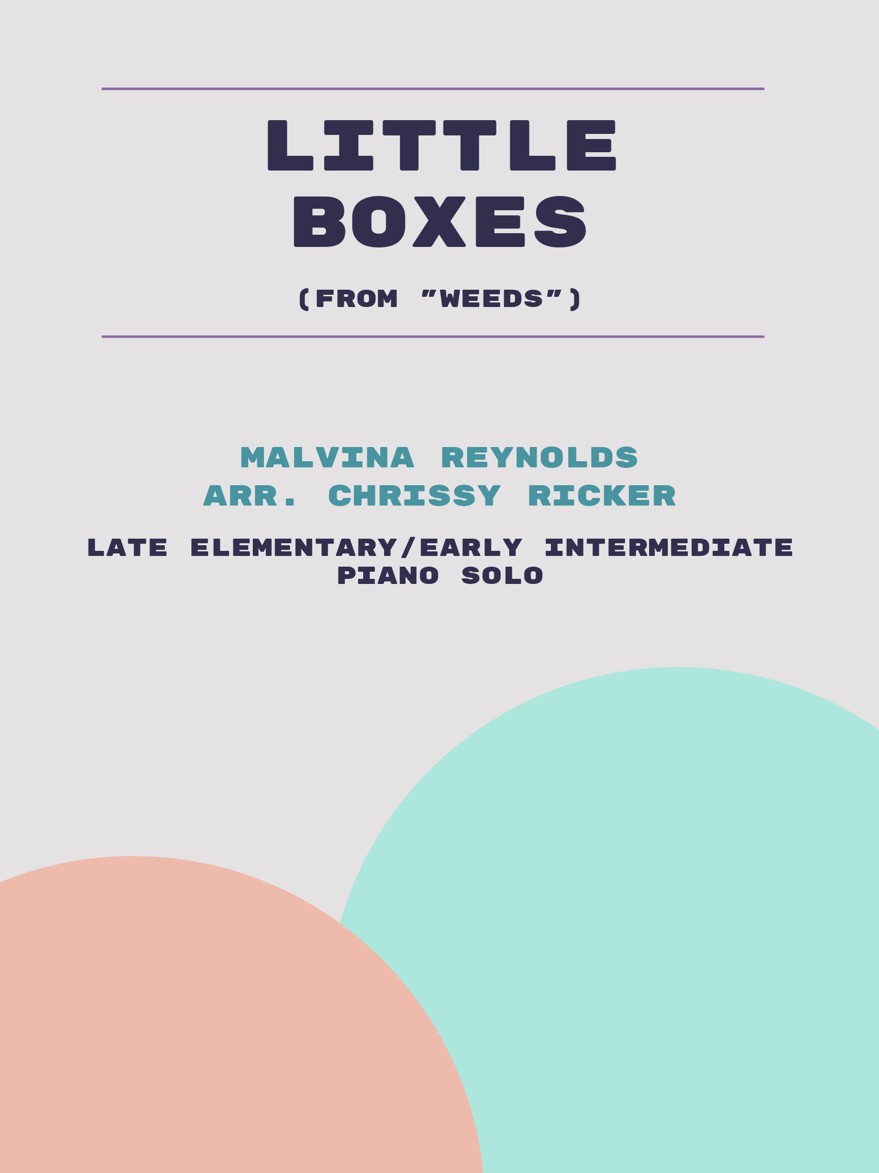 Little Boxes by Malvina Reynolds