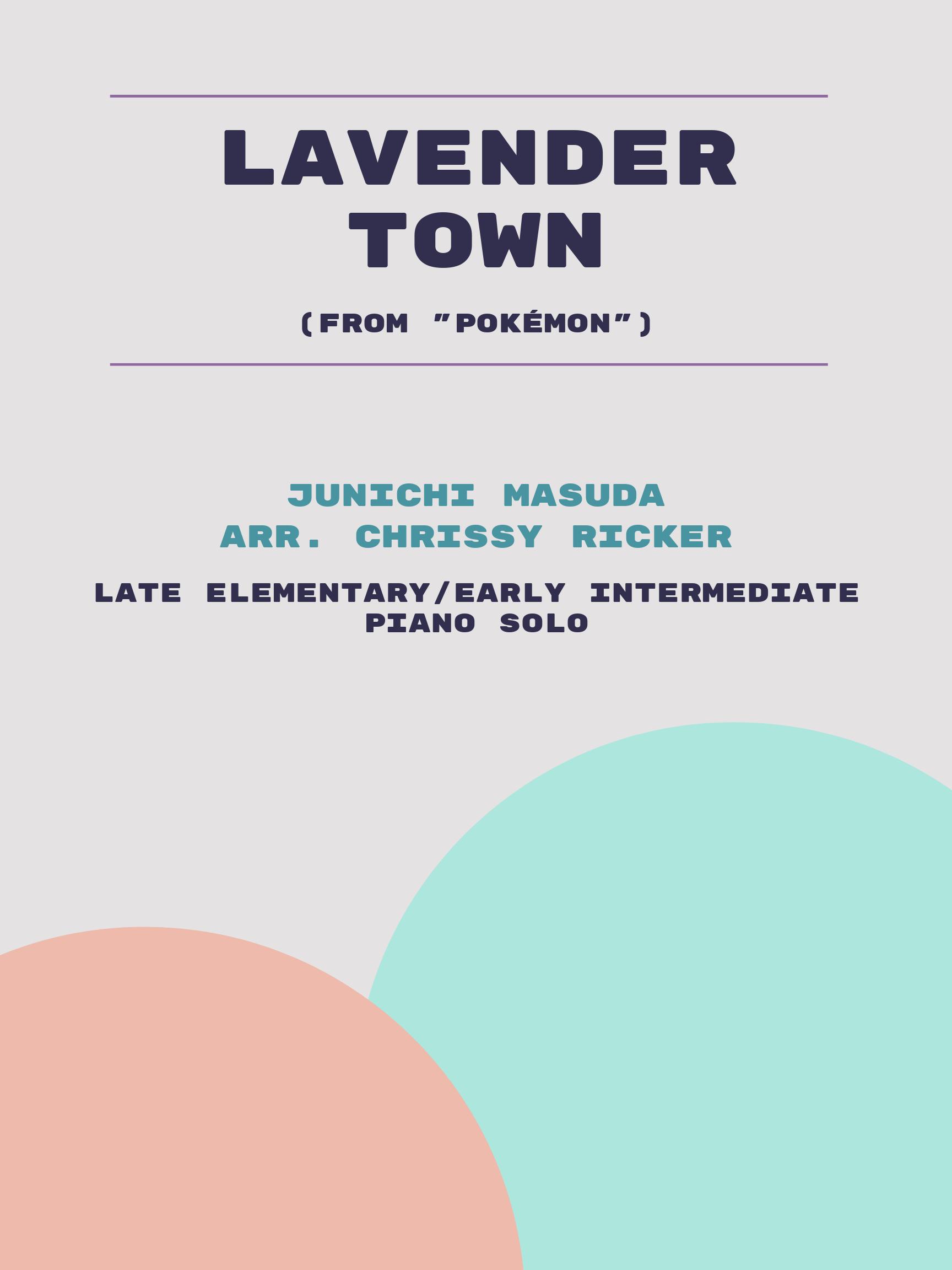 Lavender Town by Junichi Masuda