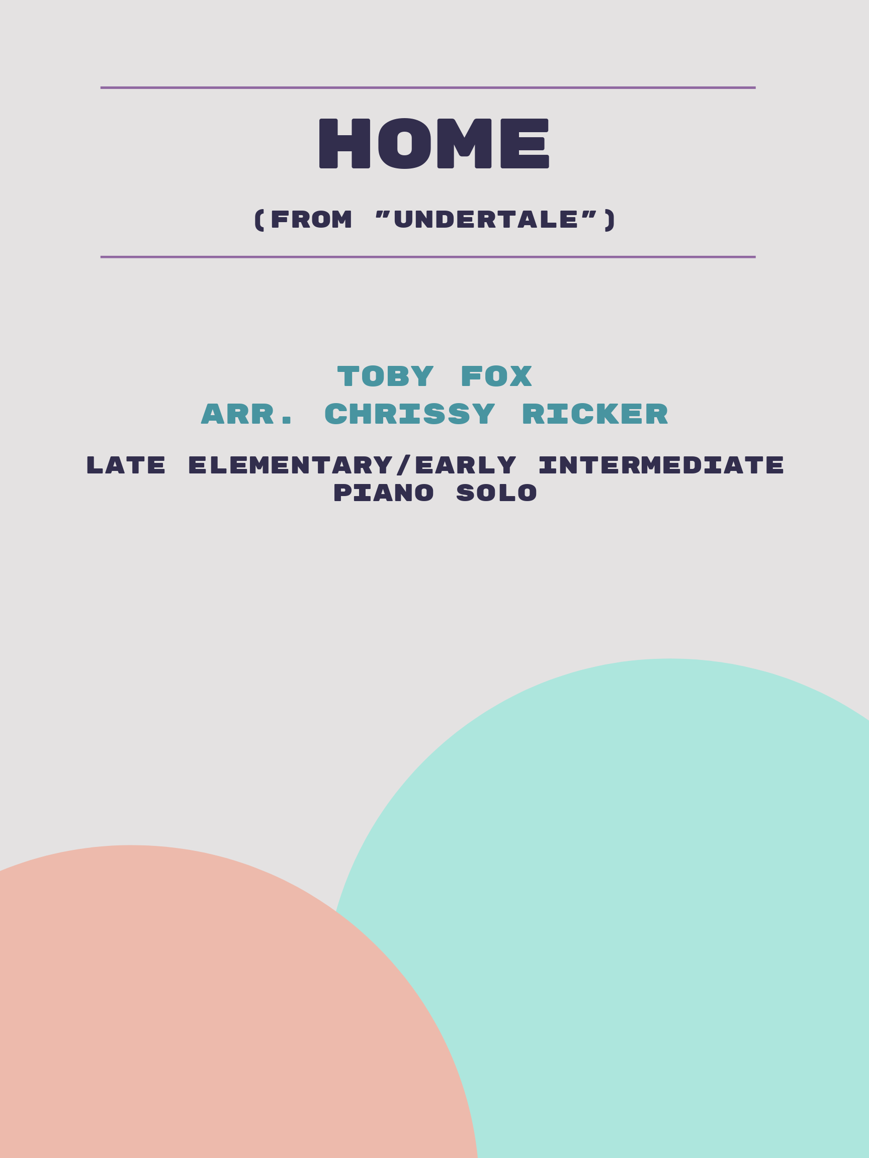 Home by Toby Fox