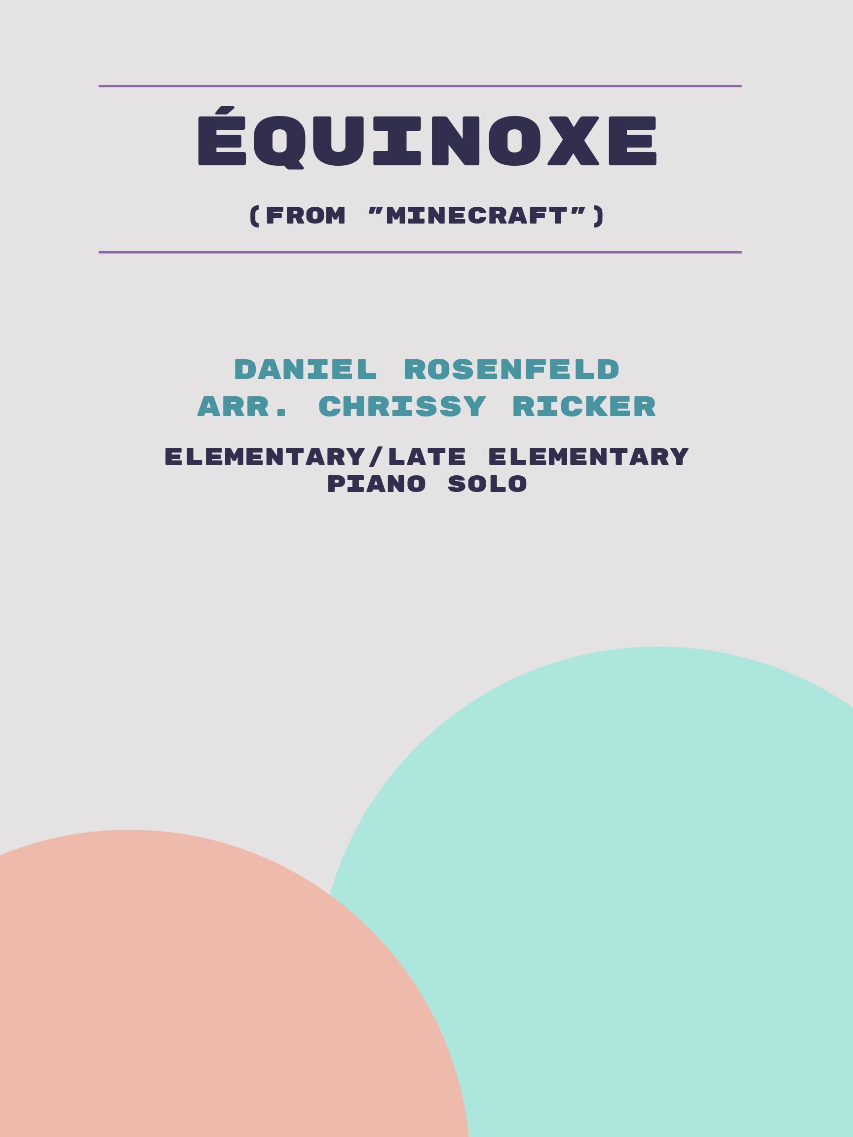 Équinoxe by Daniel Rosenfeld