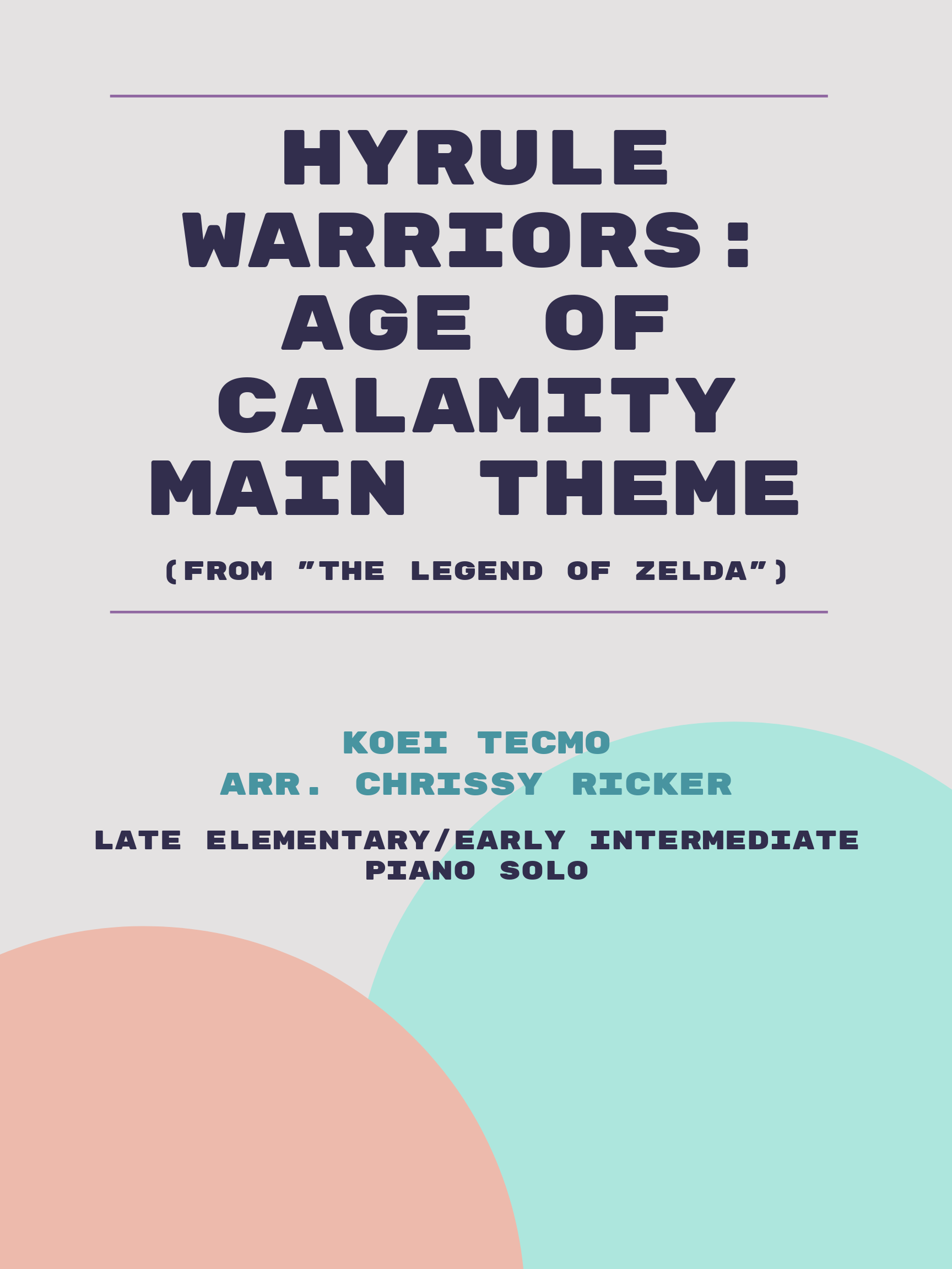 Hyrule Warriors: Age of Calamity Main Theme by Koei Tecmo