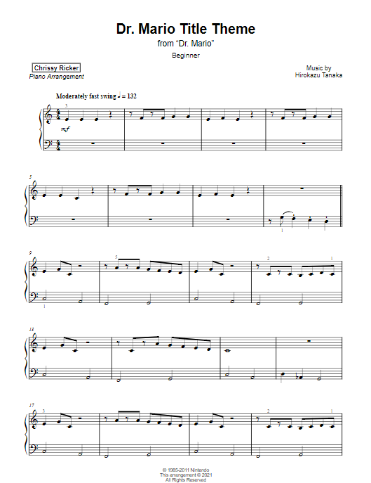 Dr. Mario Title Theme Sample Page