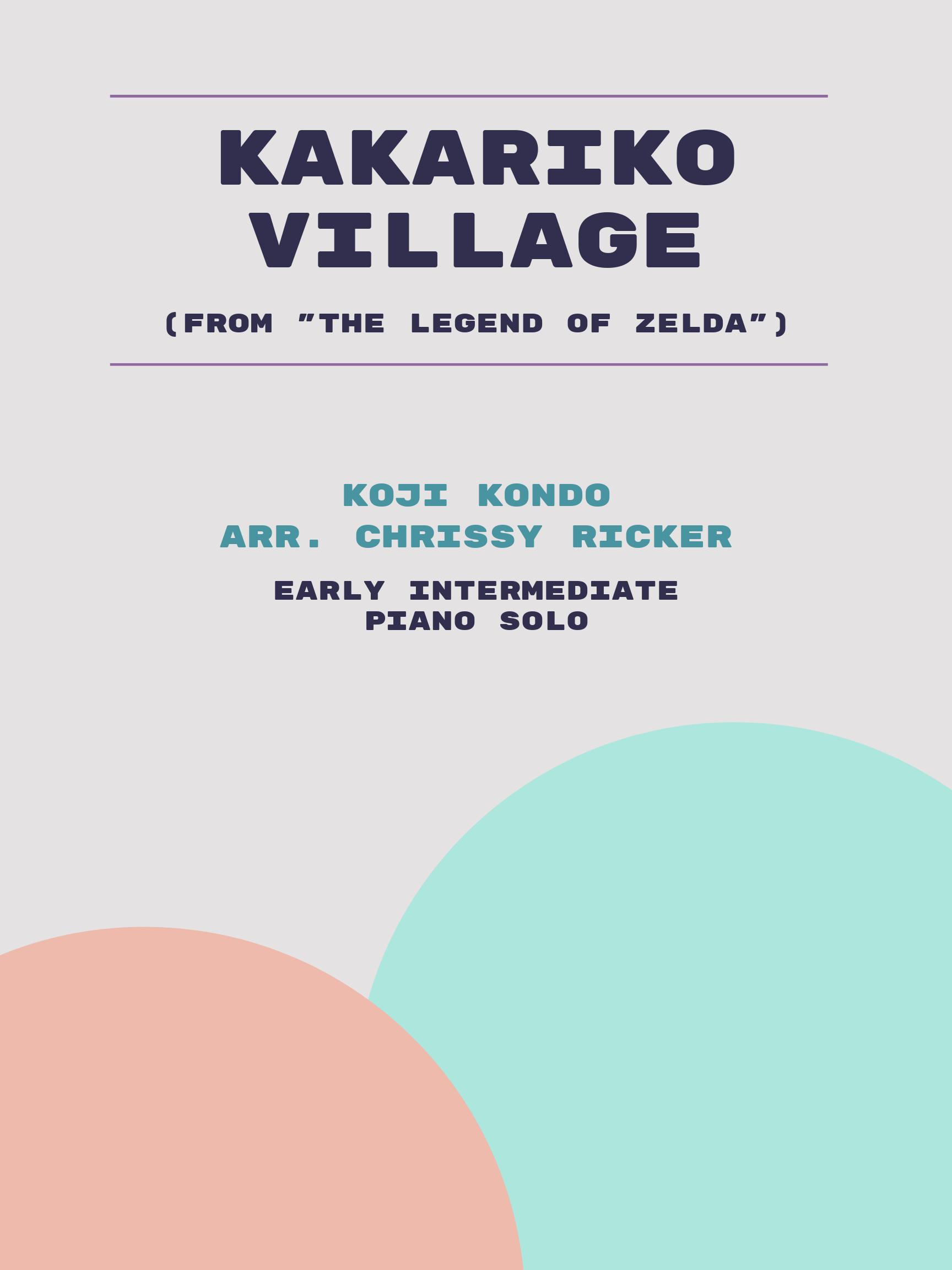 Kakariko Village by Koji Kondo
