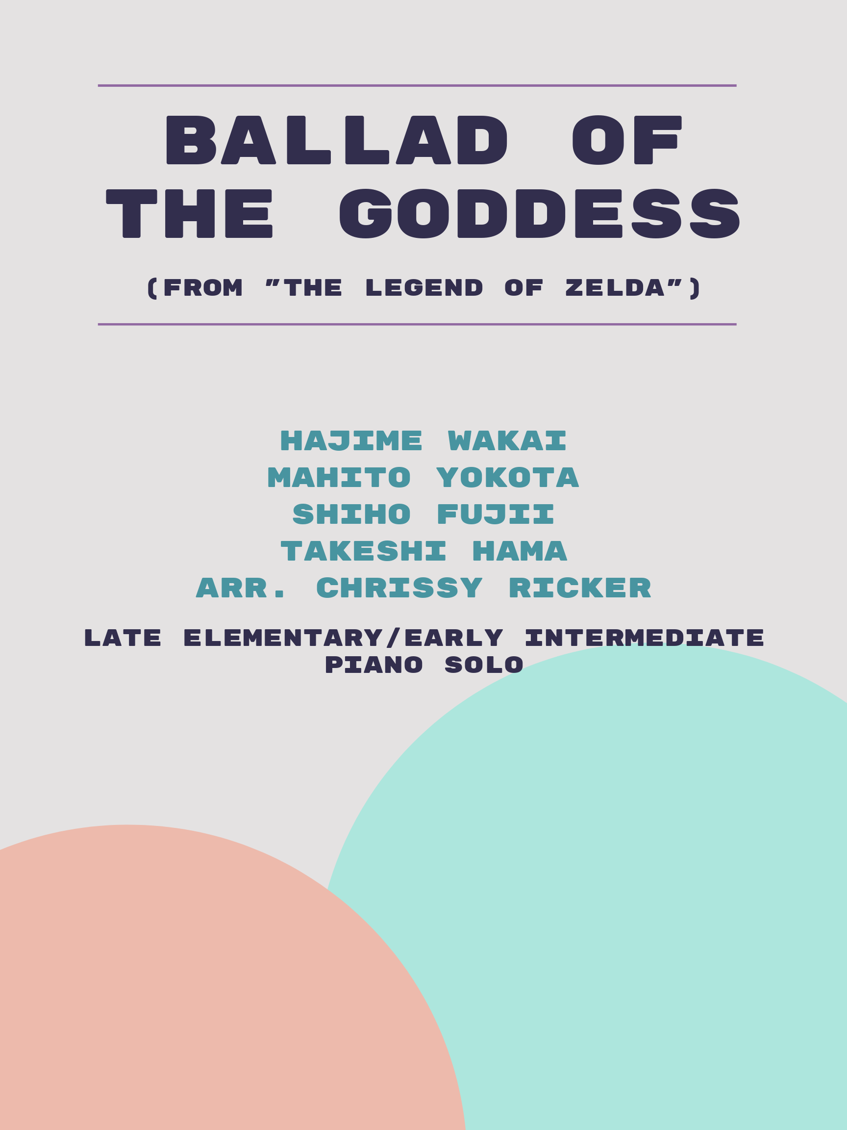 Ballad of the Goddess by Hajime Wakai, Mahito Yokota, Shiho Fujii, Takeshi Hama