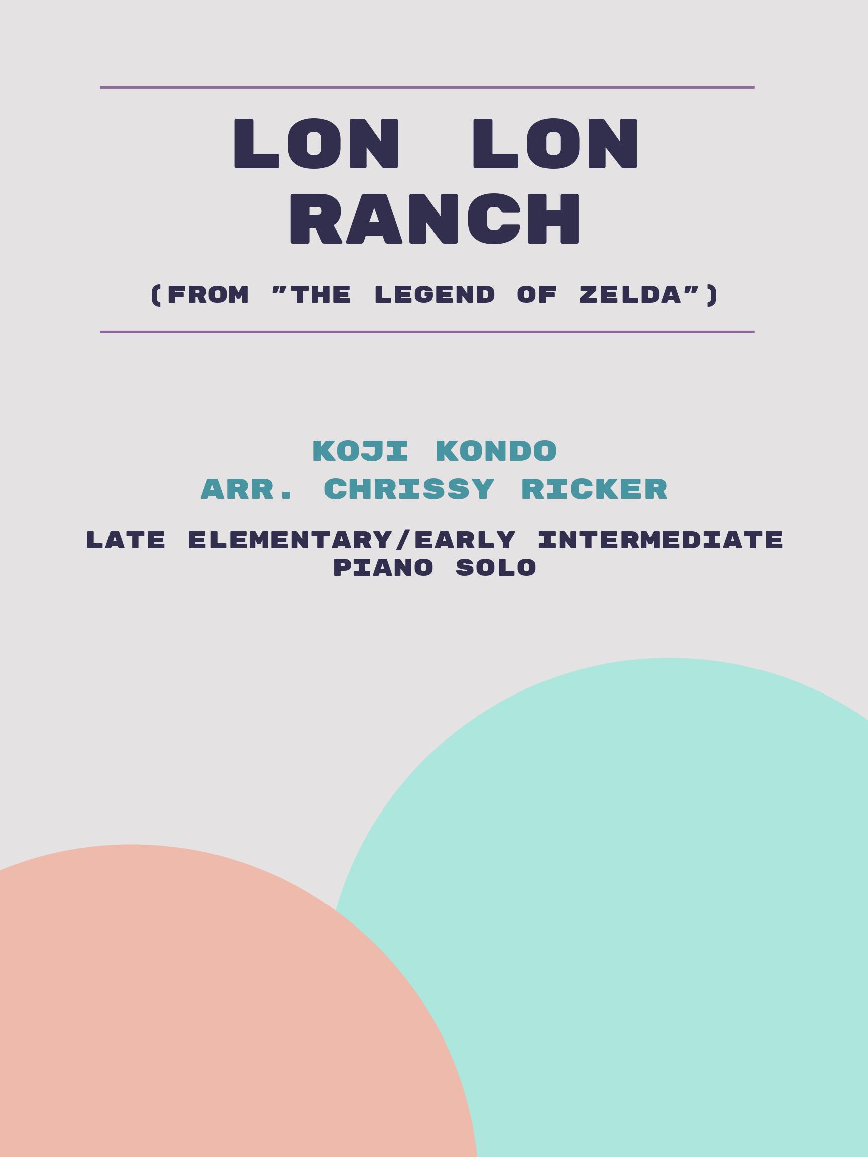 Lon Lon Ranch Sample Page