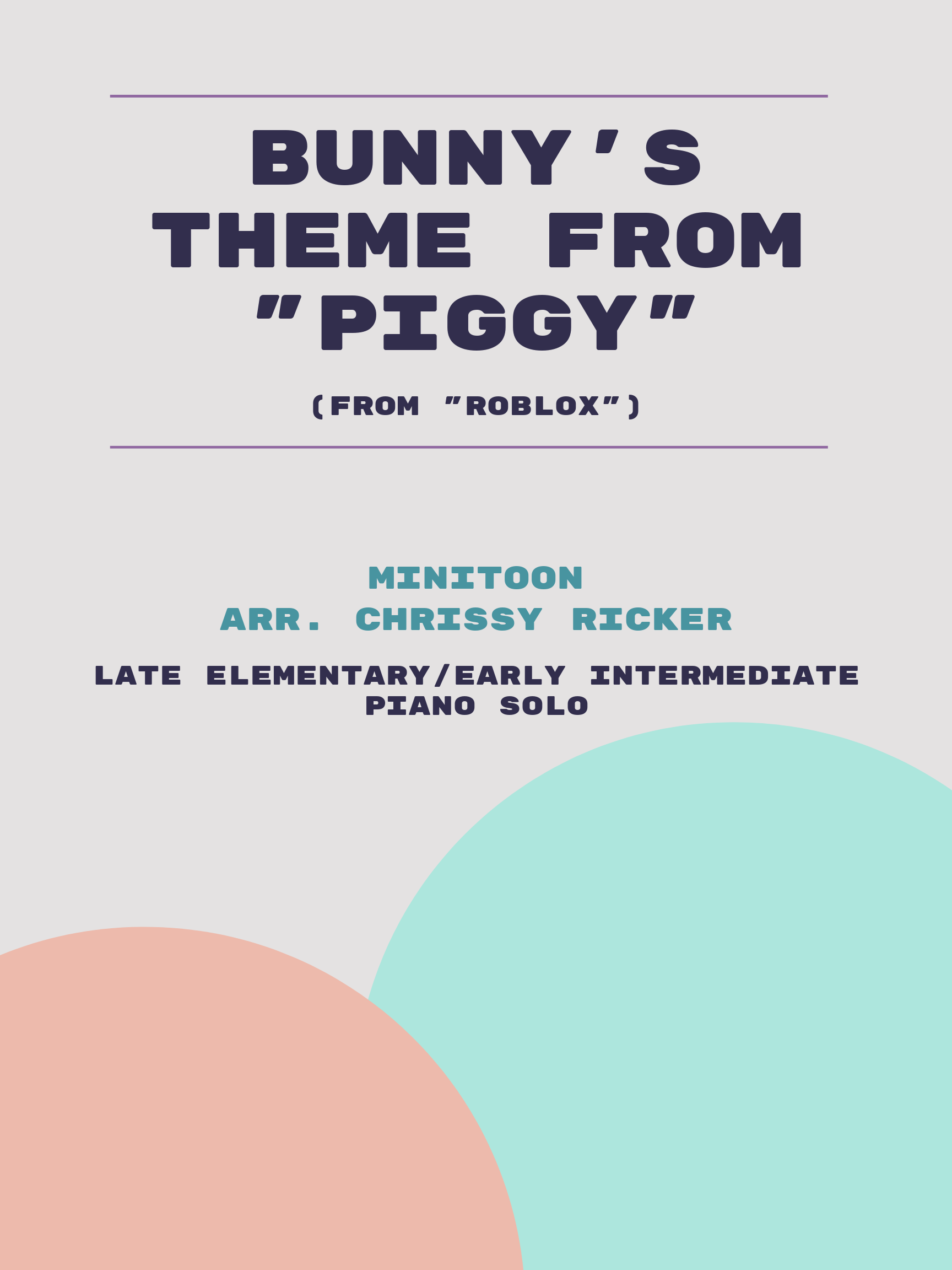 """Bunny's Theme from """"Piggy"""" by MiniToon"""