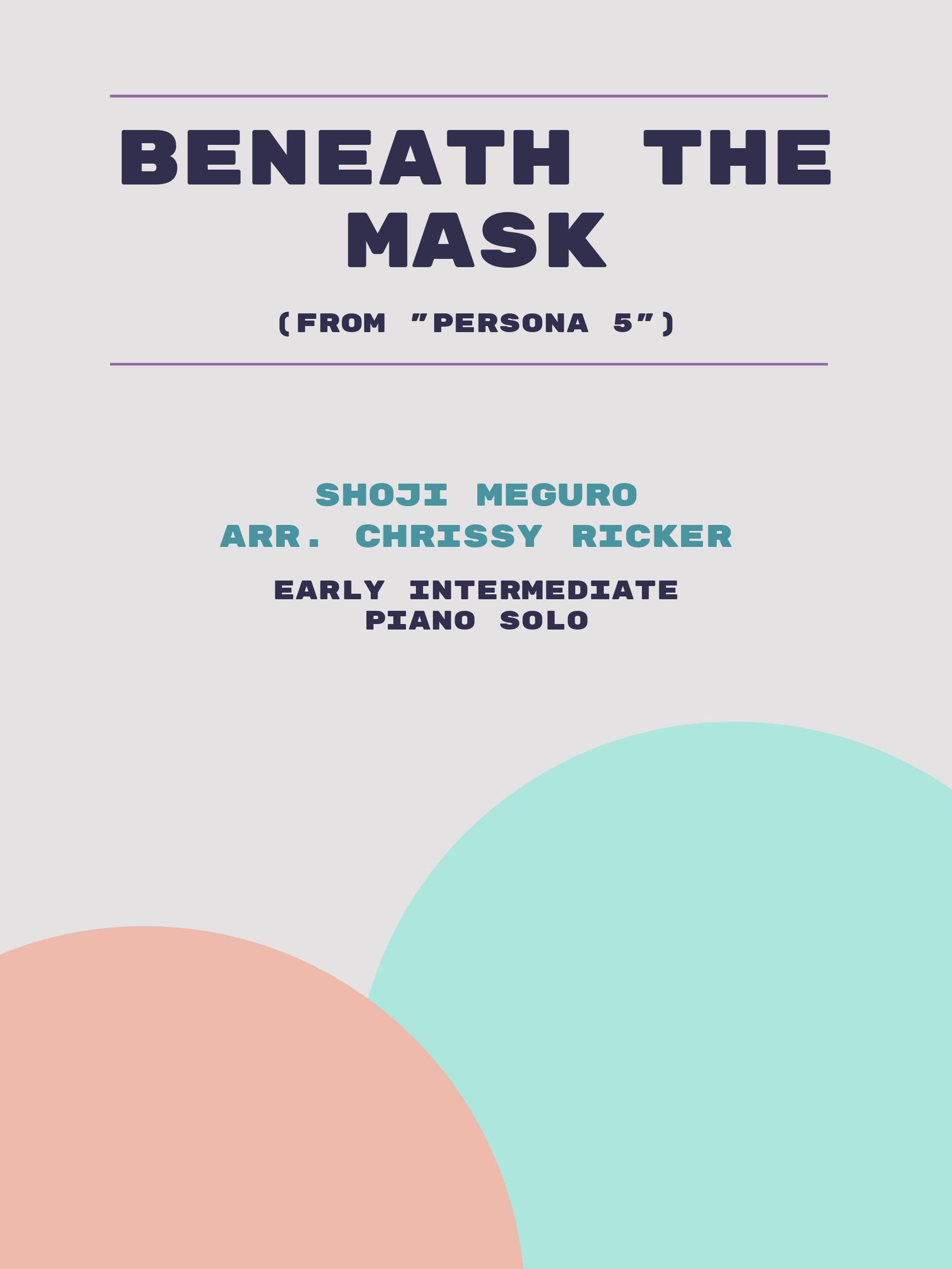 Beneath the Mask by Shoji Meguro