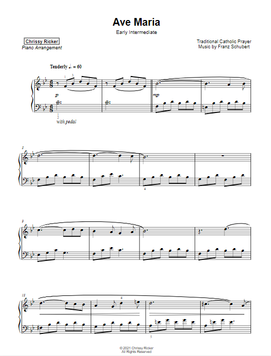 Ave Maria Sample Page