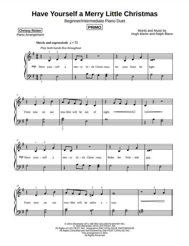 Have Yourself a Merry Little Christmas Sample Page