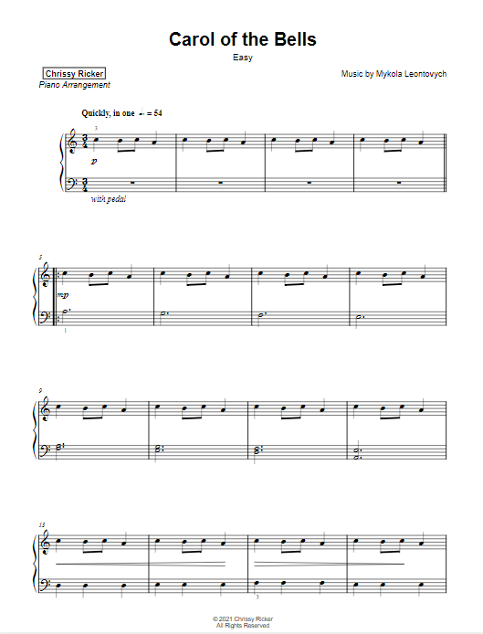 Carol of the Bells Sample Page